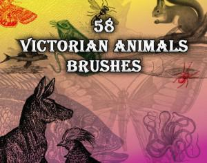 58 Victorian Animal Brushes Photoshop brush