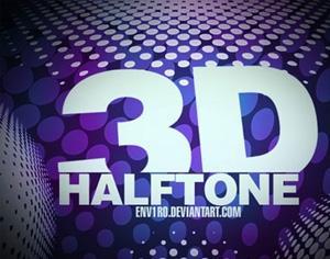 3D Halftones Photoshop brush