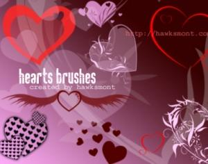 Hearts Photoshop brush