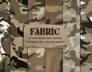 20 Camouflage Fabric Texture PS Brushes Photoshop brush