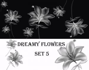 Dreamy Flowers set 5 Photoshop brush