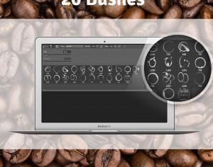 20 Coffee Stain Free Brushes Photoshop brush