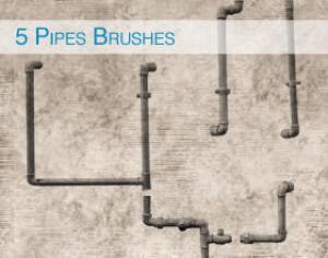 5 Pipes Brushes Photoshop brush