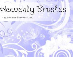Heavenly Flowers Photoshop brush