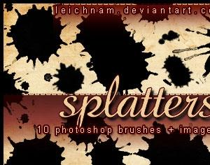 Splatters Brushes Photoshop brush