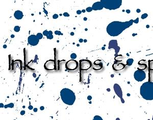 Ink drops Photoshop brush