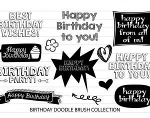 Birthday Doodle Brushes Photoshop brush