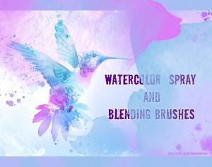 Watercolor Spray Brushes Photoshop brush