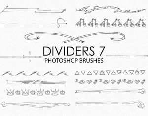 Free Hand Drawn Dividers Photoshop Brushes 7 Photoshop brush