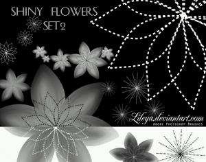 Shiny Flowers set 2 Photoshop brush