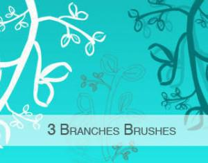 3 Branches Brushes Photoshop brush