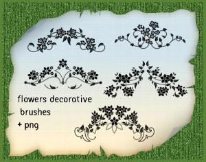 Set of 5 Floral Ornament Brushes Photoshop brush