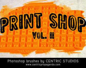 Print Shop Vol. II Photoshop brush