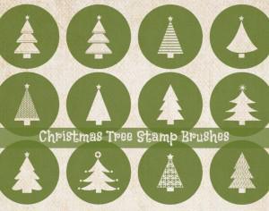Christmas Tree Stamp Brushes Photoshop brush
