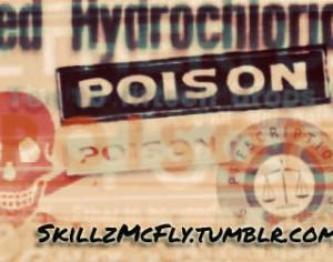 Poison Label Brushes Photoshop brush