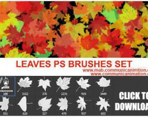 PS Leaves Brushes Set Photoshop brush