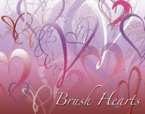 brush hearts Photoshop brush
