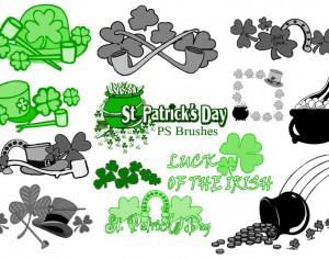 20 St Patricks Day PS Brushes abr.Vol.7 Photoshop brush