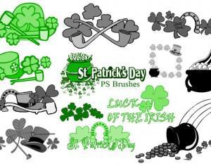 20 St Patricks Day PS Brushes abr.Vol.7 Photoshop brush