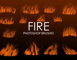 Free Digital Fire Photoshop Brushes Photoshop brush