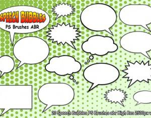 Speech Bubbles PS Brushes abr  vol 5 Photoshop brush