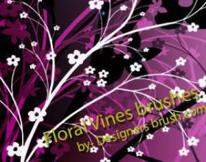 Floral vines Photoshop brushes Photoshop brush