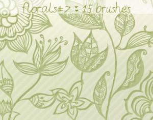 Floral Brushes 7 Photoshop brush