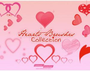 Hearts Brushes Collection Photoshop brush