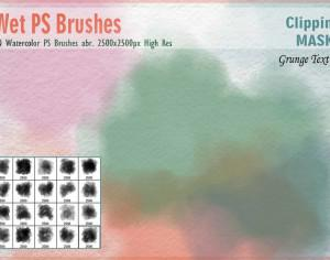 Watercolor Mask PS Brushes Photoshop brush