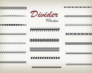 20 Divider Ps Brushes abr. vol.8 Photoshop brush