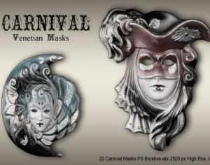 20 Carnival Masks PS Brushes abr.vol.3 Photoshop brush