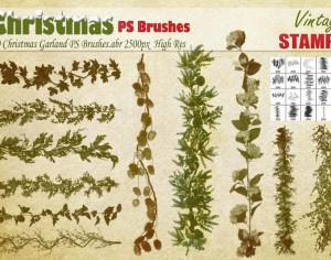 Christmas Garland PS Brushes Photoshop brush