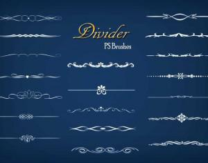 20 Divider Ps Brushes abr. vol.9 Photoshop brush