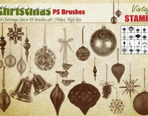 Christmas Decor PS Brushes  Photoshop brush
