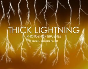 Free Thick Lightning Photoshop Brushes Photoshop brush