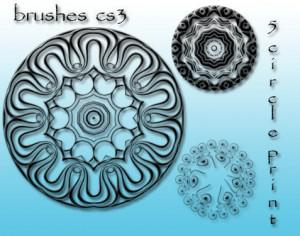 5 free circle brushes Photoshop brush