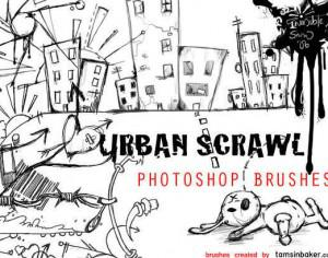 Urban Scrawl Brushes Photoshop brush