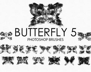 Free Watercolor Butterfly Photoshop Brushes 5 Photoshop brush