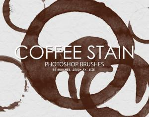 Free Coffee Stain Photoshop Brushes Photoshop brush