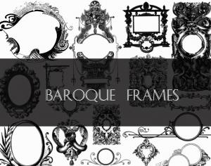 Baroque Frames Photoshop brush
