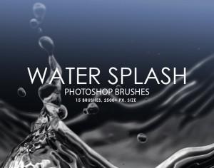 Free Water Splash Photoshop Brushes Photoshop brush