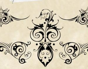 Decorative Scrolls Photoshop brush