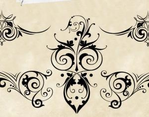 Decorative Scrolls Photoshop brush