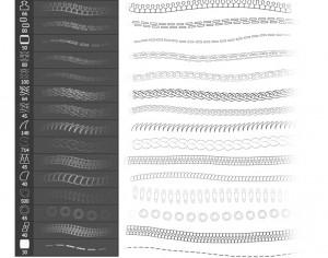 Chain, Stick, Zipper and more Brushes Photoshop brush