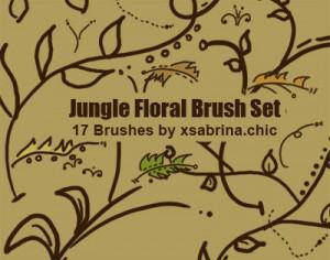 Jungle Floral Brushes Photoshop brush