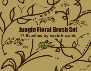 Jungle Floral Brushes Photoshop brush