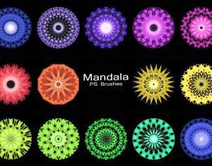 20 Mandala PS Brushes abr. vol.5 Photoshop brush