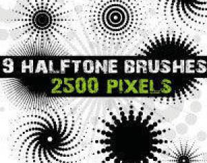 Halftone Dots Brushes for Photoshop  Photoshop brush