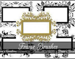 Decorative Frame Brushes  Photoshop brush