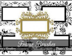 Decorative Frame Brushes  Photoshop brush
